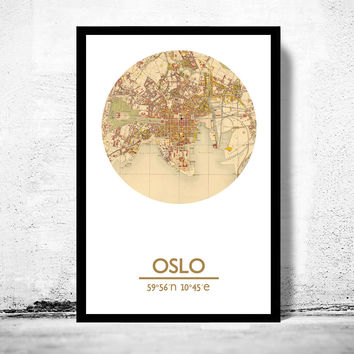 OSLO - city poster - city map poster print