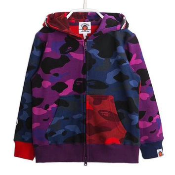 BAPE Girls Boys Children Baby Toddler Kids Child Fashion Casual Cardigan Jacket Coat