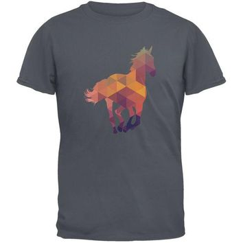 LMFCY8 Horse Geometric Charcoal Youth T-Shirt