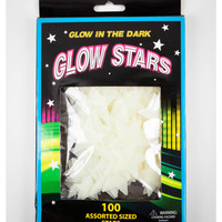 White Glow in the Dark Stars 100 Pc