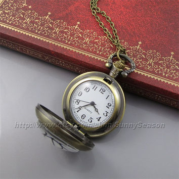 portal valve glados aperture science Pocket Watch, vintage pendant Locket necklace, Pocket Watch
