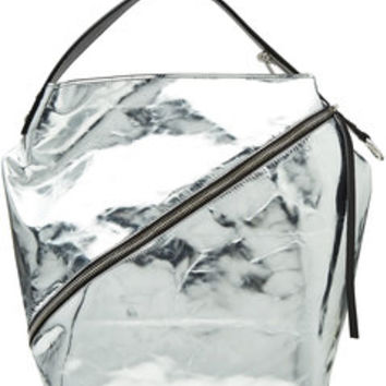 Zip Metallic Leather Tote - Proenza Schouler | WOMEN | US STYLEBOP.COM