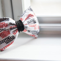 Sleeping With Sirens Logo Hair Bow by AlexsMisfitToys on Etsy