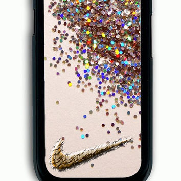 Samsung Galaxy S3 Case - Rubber (TPU) Cover with nike glitter Rubber Case Design