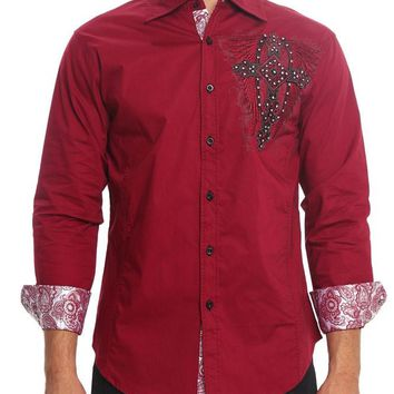 Archangel Cross Button Up Shirt SH438 - F1I