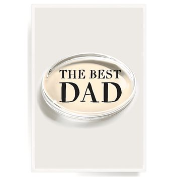 The Best Dad Crystal Oval Paperweight