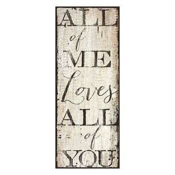 ''All of Me'' Canvas Wall Art