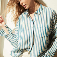BDG Striped Twill Button-Down Shirt | Urban Outfitters