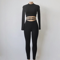 Let's be Blunt L/S Two Piece Bodycon Set