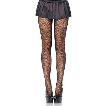 Turn Out The Lights Black Lace Pattern Tights Stockings Hosiery