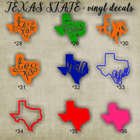 TEXAS vinyl decals - 28-36 - car window sticker - custom texas car sticker - personalized decal - car sticker - vinyl sticker - decal
