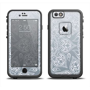 The Intricate White and Gray Vector Pattern Apple iPhone 6/6s Plus LifeProof Fre Case Skin Set
