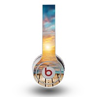 The Paradise Sunset Ocean Dock Skin for the Original Beats by Dre Wireless Headphones