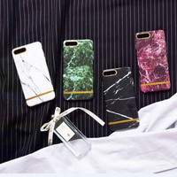 4 color marble phone case for iPhone 7 7plus 6 6S 6plus 6Splus 1107JM01