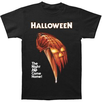 Halloween Men's  Night He Came Home T-shirt Black