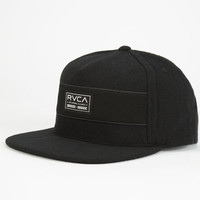 Rvca Post All Mens Snapback Hat Black One Size For Men 24478210001