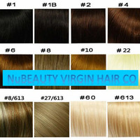 Grade 7A Clip-In 100% Real Human Hair Extensions 160g 10PCs/Set Full Head