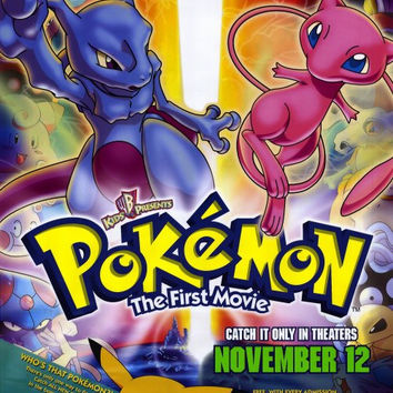 Pokemon: The First Movie 11x17 Movie Poster (1999)