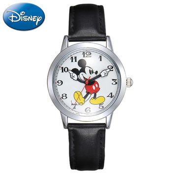 100% Genuine Disney Brand Watches Frozen Sophia Minnie Watch Fashion Luxury Watch Men Girl Wrist Disney Watch Red Pink Attractive Designs; Children's Watches