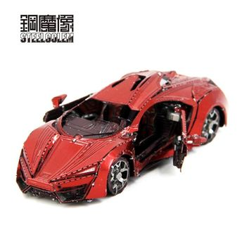 High Quality Color Red Super Sports Car 3D Metal Kits Model Puzzle DIY Collection Birthday Gift Jigsaw Kids Adult Toys Model