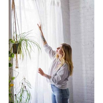 """Adara Trim Curtain,IVORY,52X84"" from Urban Outfitters 
