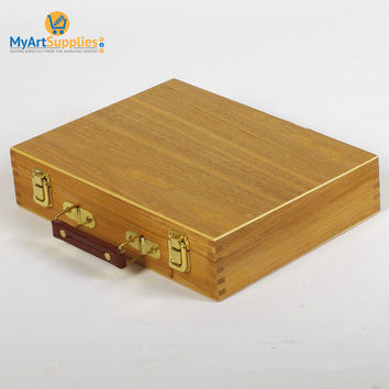Premium Beech Wood Artist Storage Box Art Set