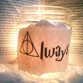 Always* Snape Harry Potter quote mason jar candle holder