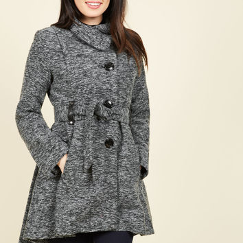 Winterberry Tart Coat in Earl Grey | Mod Retro Vintage Coats | ModCloth.com