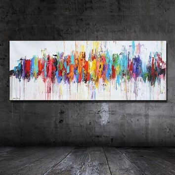 100% Hand Painted Idea Abstract Oil Painting On Canvas Modern Home Decora Stretched