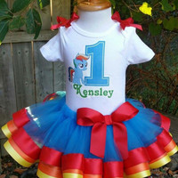 Rainbow bright tutu, first birthday tutu, tutu, birthday tutu,