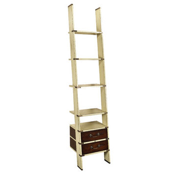 Authentic Models MF068I Library Ladder, Ivory
