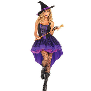 Broomstick Babe Adult Halloween Witch Costume Adult Women