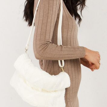 Sweater Clutch in Ivory