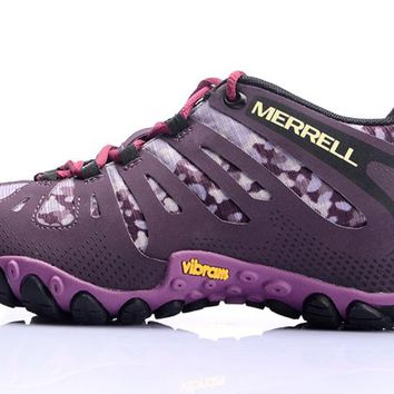 merrell 2017 women mesh breathable lightweight Purple hiking shoes wear non slip shoes on foot 36-40