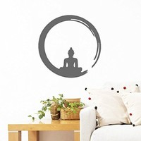 Wall Decals Zen Circle Enso Symbol Buddhism Meditation Wall Vinyl Decal Stickers Bedroom Murals
