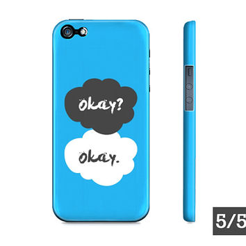 Blue The Fault In Our Stars Okay? Okay. - Apple iPhone 5S 5 4S 4 Protective Hard Case