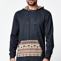 On The Byas Laser Long Sleeve Hooded Shirt - Mens Shirt - Black