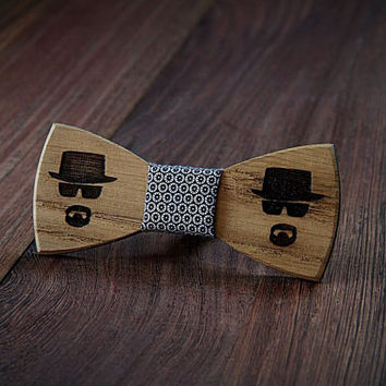 Breaking Bad wooden bow tie. Handicraft unique men accessory.Manly gift. #JVbowtie