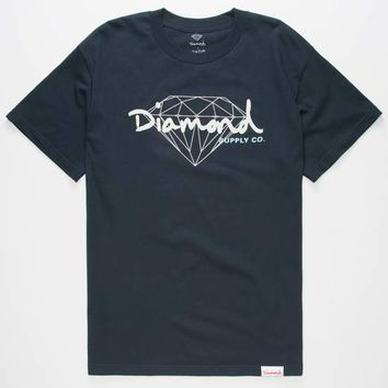 DIAMOND SUPPLY CO. Brilliant Script Mens T-Shirt | Graphic Tees
