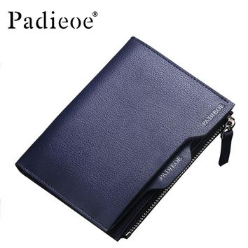 Leather Men Wallets Business Men Clutch Wallets High Quality Mens Card Holders Casual Male Coin Purses