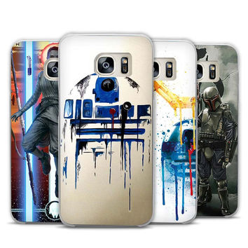 yoda star wars and bb8 cute bot Transparent Phone Case Cover for Samsung Galaxy S3 S4 S5 S6 S7 Edge Plus Mini