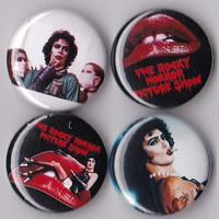 4 Rocky Horror Picture Show Pinback Buttons