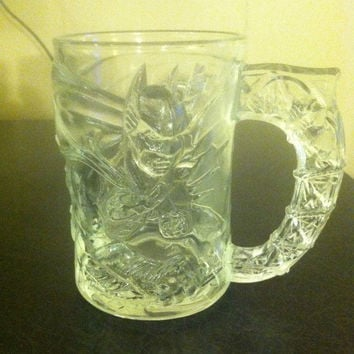 BATMAN FOREVER~Collectible~ clear Batman  glass Made in France for McDonald's.