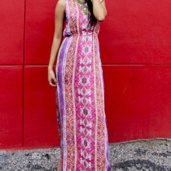 MINKPINK Magenta Carpet Maxi Dress