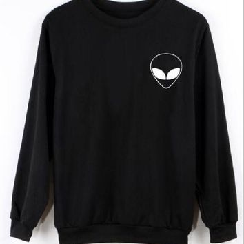 PEAPIH3 Alien Alien long-sleeved letters printing new sweater shirt men and women with the same paragraph