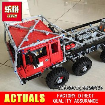 LEPIN 23012 technic series 2839pcs vehicles car Model toy 813 Building blocks Bricks Equipped with 5 motors and 1 charging box