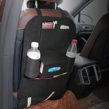 New Car Auto Seat Back Multi-Pocket Storage Bag Organizer Holder Hanger Black or24