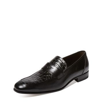 Mezlan Men's Leather Loafer - Black -