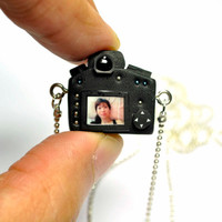 Personalized DSLR Miniature Necklace