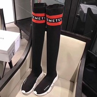 Best Online Sale Balenciaga Speed Stretch-Knit High Barrel Knee Socks Shoes 3 Color